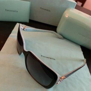 Tiffany & Co. Black Blue Sunglasses